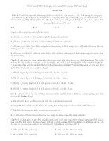 Đề thi thử THPT Quốc gia môn sinh 2015 chuyên ĐH Vinh lần 3