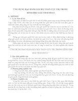 ỨNG DỤNG đạo hàm GIẢI bài TOÁN cực TRỊ TRONG HÌNH học GIẢI TÍCH OXYZ