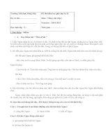 Đề kiểm tra giữa học kì 2 lớp 2 môn Tiếng Việt - TH Sông Mây năm 2015