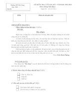 Đề kiểm tra học kỳ 1 môn Tiếng Việt lớp 2.