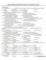300 câu trắc nghiệm ngữ pháp tiếng anh level B có đáp án chuẩn