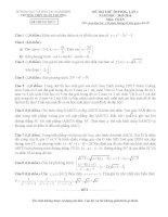 20 bộ đề thi thử THPT quốc gia môn toán  năm 2016