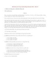 Đề thi học kì 1 lớp 4 môn tiếng việt năm 2014 (P1)