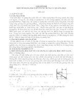 chuyên đề một số dạng bài tập về các dụng cụ quang học