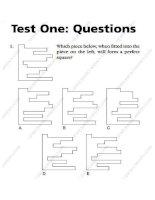Ôn thi vào ngân hàng  Bộ tài liệu 400 câu hỏi IQ và đáp án chi tiết  (hot)