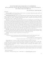 SO SÁNH HIỆU QUẢ GIẢM ĐAU CỦA MORPHINE BẰNG PHƯƠNG PHÁP TRUYỀN TĨNH MẠCH VÀ TIÊM TĨNH MẠCH SAU PHẪU THUẬT Ở TRẺ EM
