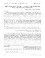 NHIỄM GIUN TRUYỀN QUA ĐẤT VÀ CÁC YẾU TỐ LIÊN QUAN Ở HỌC SINH 9–10 TUỔI TỈNH PHÚ YÊN NĂM 2003