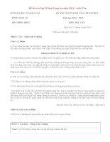 Đáp án đề thi tuyển sinh vào lớp 10 môn Văn năm 2014 tỉnh Long An