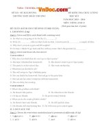 Đề thi học kỳ 1 môn tiếng Anh lớp 11 trường THPT Đoàn Thượng, Hải Dương năm học 2015 - 2016