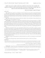 HIỆU QUẢ CỦA MỘT CHƯƠNG TRÌNH GIÁO DỤC SỨC KHỎE VỀ PHÒNG CHỐNG SỐT XUẤT HUYẾT DENGUE CHO HỌC SINH TRUNG HỌC CƠ SỞ TỈNH BÌNH DƯƠNG NĂM 2009