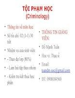 Bài giảng tội phạm học   chương 1   lý LUẬN CHUNG về tội PHẠM học