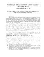 HOẠT ĐỘNG của các tổ CHỨC tài CHÍNH PHI NGÂN HÀNG và tác ĐỘNG của nó tới nền KINH tế VIỆT NAM