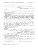 KIẾN THỨC THÁI ĐỘ VÀ NHU CẦU GIÁO DỤC VỀ GIỚI TÍNH CỦA HỌC SINH TRƯỜNG THCS NGÔ TẤT TỐ, Q.PHÚ NHUẬN, TPHCM NĂM 2008