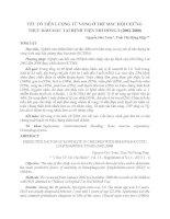 YẾU TỐ TIÊN LƯỢNG TỬ VONG Ở TRẺ MẮC HỘI CHỨNG THỰC BÀO MÁU TẠI BỆNH VIỆN NHI ĐỒNG (2002-2008)