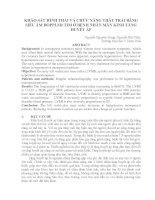 KHẢO SÁT HÌNH THÁI VÀ CHỨC NĂNG THÂT TRÁI BẰNG SIÊU ÂM DOPPLER TIM Ở BỆNH NHÂN MÃN KINH TĂNG HUYẾT ÁP