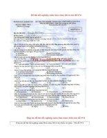 Đáp án đề thi tốt nghiệp môn hóa năm 2014 mã đề 974