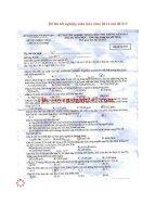 Đáp án đề thi tốt nghiệp môn hóa năm 2014 mã đề 517