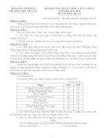 Đề thi thử THPT Quốc gia năm 2016 môn Địa lần 2  THPT Yên Lạc: