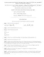 Đề thi và đáp án đề thi vào lớp 10 môn Toán Tây Ninh năm 2014