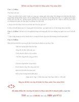 Đáp án đề thi vào lớp 10 môn Văn tỉnh Cà Mau 2014