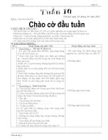 BỘ GIÁO ÁN LỚP 3 TUẦN 10 (2012-2013) - ĐƯỢC BÌNH CHỌN XUẤT SẮC NHẤT CẤP TRƯỜNG, DỰ THI GVDG CẤP HUYỆN