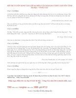 Đáp án đề thi vào lớp 10 năm 2014 môn Ngữ văn - THPT chuyên Bà Rịa - Vũng Tàu
