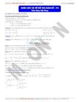 tài liệu khảo sát và vẽ đồ thị hàm số phần 2
