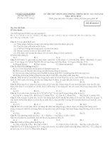 Đề thi thử THPT quốc gia năm 2016 môn hóa   đề số 1 (mã đề 016)