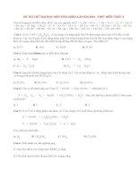 Đề thi thử đại học môn Hóa khối A,B năm 2014 lần 2 THPT Diễn Châu 4