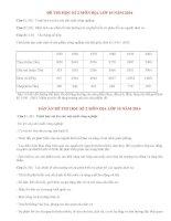 Đề thi học kì 2 môn Địa lớp 10 có đáp án năm 2014 (P5)