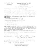 Đề thi thử THPT quốc gia năm 2016 môn toán lần 2   THPT bố hạ