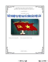 Thất nghiệp tại Việt Nam và chính sách việc làm