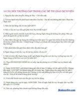 Ôn thi vào ngân hàng  14 câu hỏi thường gặp trong các đề thi tuyển giao dịch viên