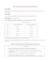 Đề thi học kì 2 môn Địa lớp 10 có đáp án năm 2014 (P4)