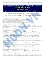 Luyện thi THPT Quốc gia đề số 1 Môn Hóa học