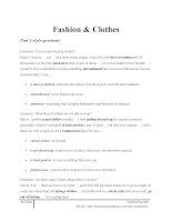 Từ vựng tiếng anh theo từng chủ đề  fashion and clothes