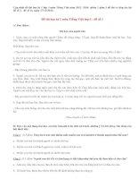 Đề thi học kì 1 lớp 3 môn Tiếng Việt năm 2013 (Phần 1)