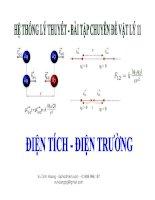 Các chuyên đề vật lý 11  Chủ đề 2: Điện trường (phần 2)