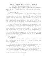 BÀI dự THI TÍCH hợp KIẾN THỨC LIÊN môn SINH học lớp 9