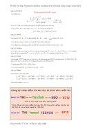 Đề thi vào lớp 10 chuyên đại học sư phạm Hà Nội môn toán vòng 1 năm 2013