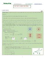 Các chuyên đề vật lý 11  Chủ đề 2: Điện trường (phần 1)