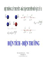 Các chuyên đề vật lý 11  Chủ đề 1: Điện tích, tương tác điện