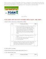Cấu trúc đề thi tốt nghiệp môn toán năm 2013