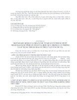 CHƯƠNG VI MỘT SỐ QUI ðỊNH CỦA NHÀ NƯỚC VỀ QUẢN LÝ THUỐC BVTV NHẰM BẢO ðẢM TÍNH AN TOÀN VÀ HIỆU QUẢ TRONG LƯU THÔNG VÀ SỬ DỤNG THUỐC BẢO VỆ THỰC VẬT Ở NƯỚC TA.