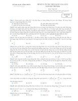 Đề thi thử THPT môn vật lý tỉnh vĩnh phúc
