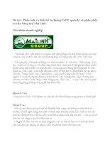 Phân tích và thiết kế hệ thống CSDL quản lý và phân phối xe của  hãng taxi Mai Linh
