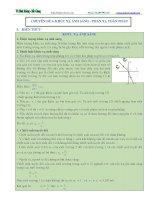 CHUYÊN đề 6  Khúc xạ ánh sáng và phản xạ toàn phần