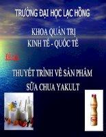Thuyết trình marketing căn bản Thuyết trình về sản phẩm sữa chua Yakult