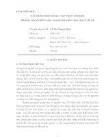 XÂY DỰNG MỘT SỐ BÀI TẬP THỰC NGHIỆM TRONG  BỒI DƯỠNG HỌC SINH GIỎI MÔN HÓA HỌC LỚP 8, 9