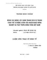 NÂNG CAO NĂNG LỰC CẠNH TRANH DỊCH VỤ THANH TOÁN THẺ TỰ ĐỘNG (ATM) CỦA AGRIBANK